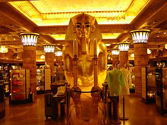 Harrods - The Egyptian-style clothing department at Harrods