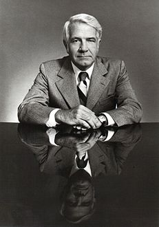 Harry Reasoner reporting for ABC News on August 8, 1974 about the impending resignation announcement by then-President ريتشارد نيكسون.