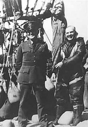 Hawthorne C. Gray - Gray (right) prior to his March 1927 world record attempt.