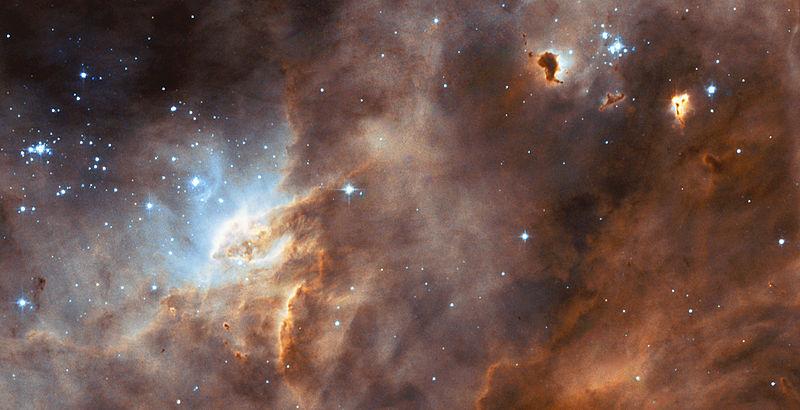 Регион образования звёзд N11B, снятый телескопом «Хаббл»