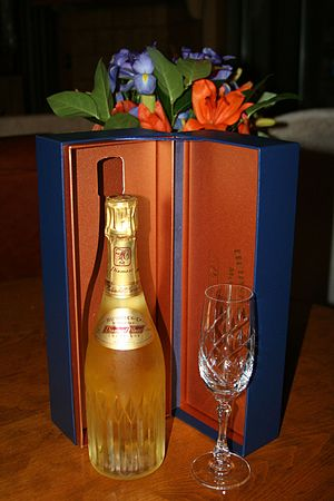 Special edition French Champagne and flute wit...