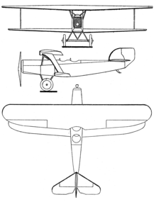 Heinkel HD 17 3-view Les Ailes January 7, 1926.png