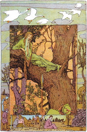 The Six Swans - Illustration by Heinrich Vogeler