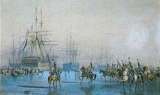 Capture of the Dutch fleet at Den Helder - Capture of the Dutch fleet by the French hussars