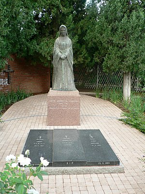 Henrietta Stockdale - The grave of Sister Henrietta and her fellow workers at St Cyprian's Cathedral, Kimberley