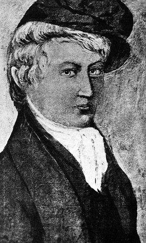 Nicolai Wergeland -  Poet Henrik Wergeland, drawn by his father Nicolai Wergeland