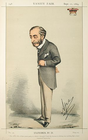 "Henry Herbert, 4th Earl of Carnarvon -  Herbert sketched in 1869 by ""Ape"" for Vanity Fair"
