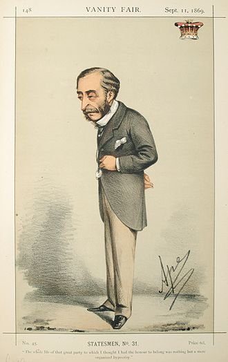Morning dress - Caricature of Henry Herbert, 4th Earl of Carnarvon in Vanity Fair, 11 September 1869