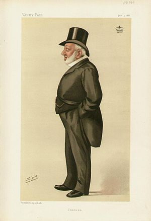 "Henry Vivian, 1st Baron Swansea - ""Swansea"". Caricature by Spy published in Vanity Fair in 1886."