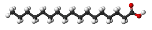 Heptadecanoic acid - Image: Heptadecanoic acid 3D balls