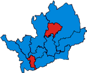 Parliamentary constituencies in Hertfordshire - Image: Hertfordshire Parliamentary Constituency 2005Results 2