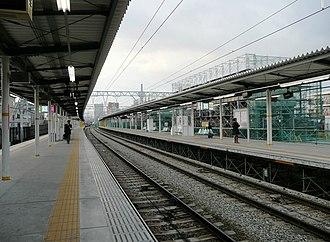 Higashi-Hanazono Station - Image: Higashi Hanazono Station platform 1