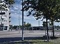 Hiihtomäentien ja Hiihtäjäntien risteys ja Herttoniemen metroasema. - D755 (hkm.HKMS000005-000017lt).jpg