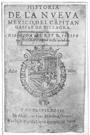 Gaspar Pérez de Villagrá - Historia de la Nueva México Cover
