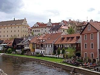 Vltava - Historic Centre of Český Krumlov near Vltava river.