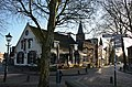 "Historic towncenter with cafe-tapperij ""de Zwijger"" at Houten with the Catholic churchtower - panoramio.jpg"