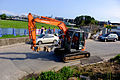 Hitachi Zaxis 75 Excavator Moving at Lane 180, Binjiang Street, Taipei 20151003a.jpg
