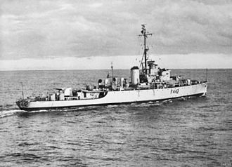 Naval Battle of the Han River (1951) - HMAS Murchison operating off Korea.