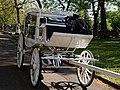 Horse drawn white hearse City of London Cemetery 1.jpg