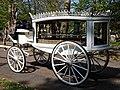 Horse drawn white hearse City of London Cemetery 3 lighter.jpg