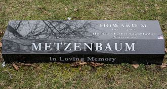 Mayfield Cemetery - Grave of Senator Howard Metzenbaum at Mayfield Cemetery.