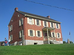 The Hower-Slote House is on the National Register of Historic Places and was built on the site of Fort Freeland (destroyed 1779)