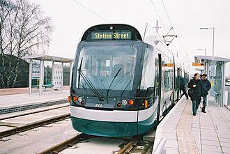 Hucknall - Image: Hucknall Tram