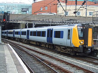 British Rail Class 350 - The first order of Class 350 units were delivered in a neutral grey and blue livery, as they were operated by both Central Trains and Silverlink.