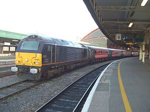 Queen's Messenger - Queen's Messenger diesel locomotive seen at Bristol Temple Meads station in 2008
