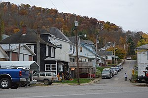 Hundred, West Virginia - Cleveland Street houses