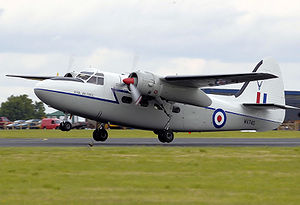 Percival Pembroke - Privately owned Hunting Percival P.66 Pembroke C.1 takes off in 2008