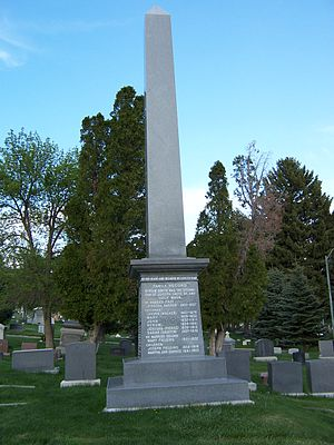 Hyrum Smith - Image: Hyrum Smith Monument 2
