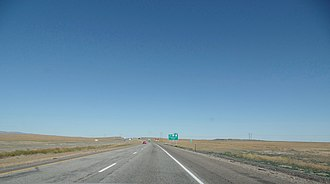Interstate 84 in Idaho - I-84 eastbound, nearing Mountain Home in 2016