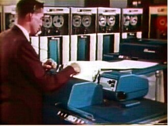 IBM 729 - A bank of IBM 729 tape drives.