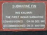 INS Kalvari Submarine Fin at RK Beach 04.jpg