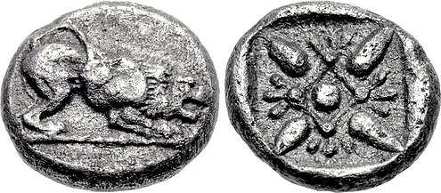 Coinage of Miletus at the time of Aristagoras. 5th century BC IONIA, Miletos. 5th century BC.jpg