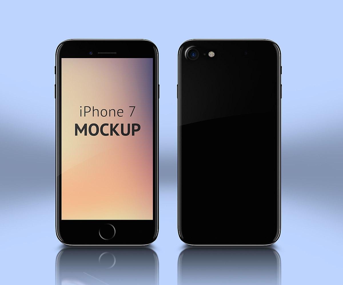 File Iphone 7 Mockup Template Psd Jpg Wikimedia Commons