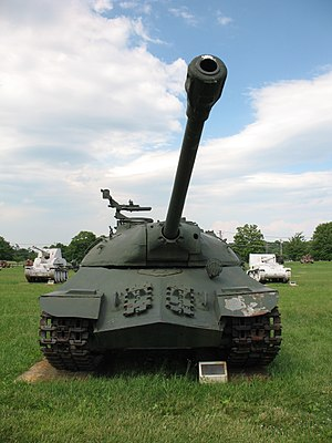 Sloped armour - The extremely late-war-designed Soviet IS-3 utilized a pointed prow in place of a simple glacis
