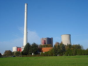 RWE powerplant in the city of Ibbenbüren