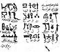 Ibn Wahshiyya's 985 CE translation of the Ancient Egyptian hieroglyph alphabet.jpg