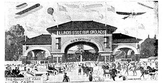 Illinois State Fair - The Illinois State Fair - from Farm Home newspaper, 1916