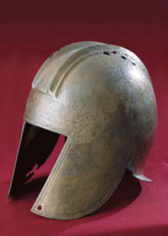 Illyrian helmet from Budva (4th century BC) Illyrian-Greek helmet from Montenegro - Budva -4th cBC.png