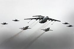 Ilyushin Il-78M, Yakovlev Yak-130, Sukhoi Su-24M2 (4712471614).jpg
