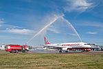 Inaugural Atlasjet Ukraine flight from Kiev Zhulyany to Lviv.jpeg