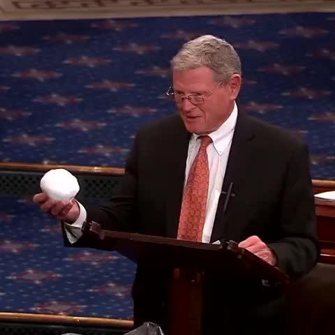 Inhofe holding snowball