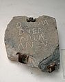 Inscripció romana, segle II dC Museu Municipal de Xèrica.JPG