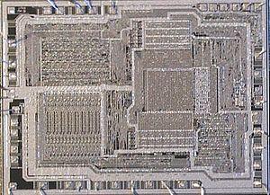 Intel 8085 - Intel 8085A CPU die