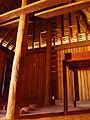 Interior of Reconstructed Mahitsielafanjaka palace at Rova of Antananarivo Madagascar with andry central pillar.JPG