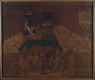 Taddeo Barberini - Investiture of Taddeo Barberini as Prefect by Pope Urban