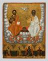 Ioannis Skordilis Holy Trinity with Saints Eleftherios, Athanasios, Ioannis Prodromos and Charalambos.png
